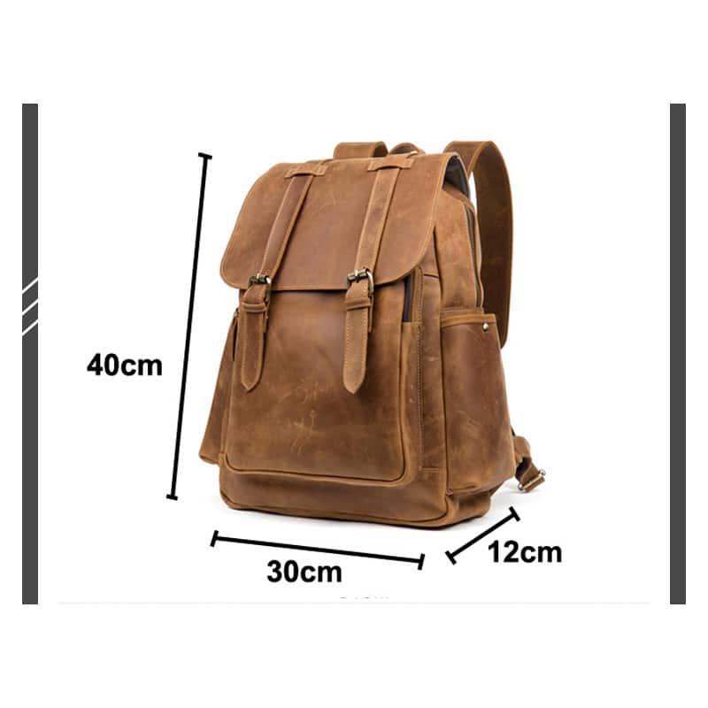 Мужская сумка-портфель Mantime June из натуральной кожи Crazy Horse в стиле ретро 215772