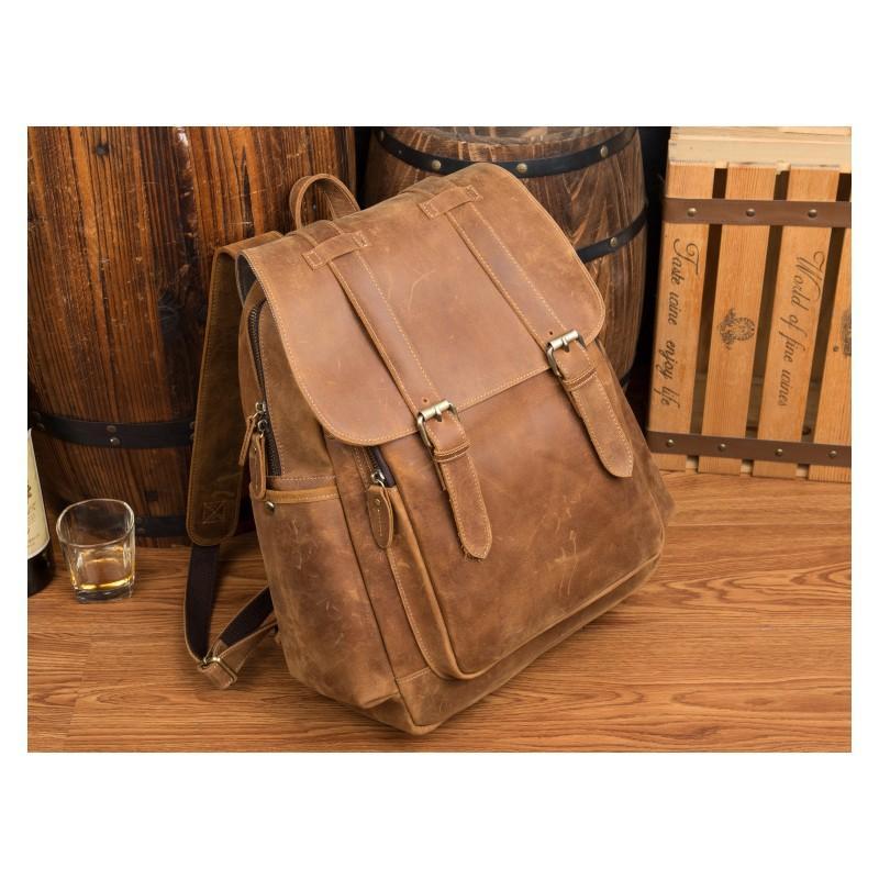 Мужская сумка-портфель Mantime June из натуральной кожи Crazy Horse в стиле ретро 215773