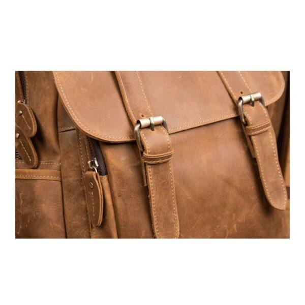 40312 - Мужская сумка-портфель Mantime June из натуральной кожи Crazy Horse в стиле ретро