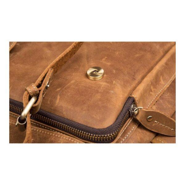 40313 - Мужская сумка-портфель Mantime June из натуральной кожи Crazy Horse в стиле ретро
