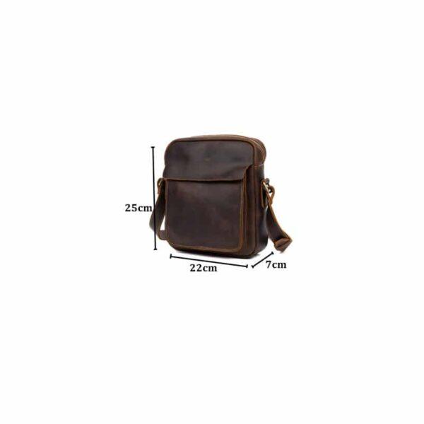40324 - Мужская плечевая сумка Mantime August из натуральной кожи Crazy Horse
