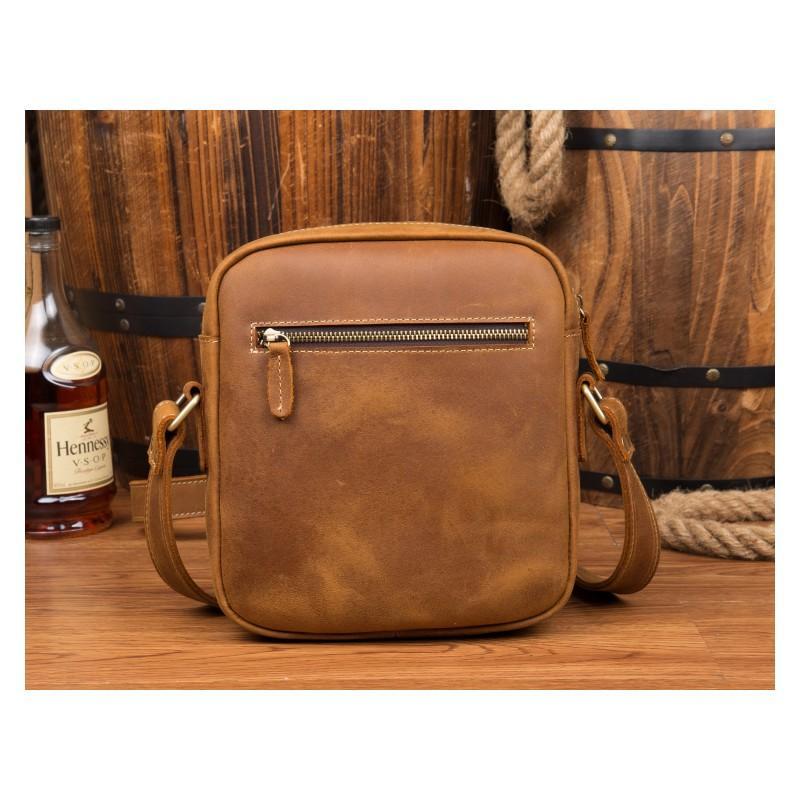 Мужская плечевая сумка Mantime August из натуральной кожи Crazy Horse 215789