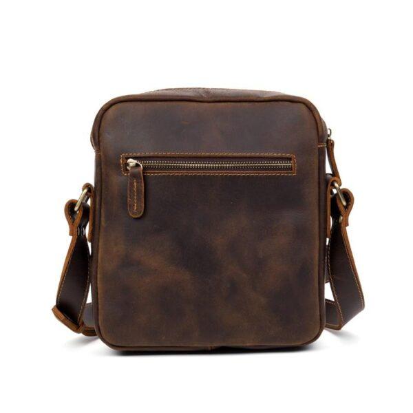 40331 - Мужская плечевая сумка Mantime August из натуральной кожи Crazy Horse