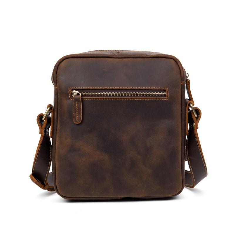 Мужская плечевая сумка Mantime August из натуральной кожи Crazy Horse 215793