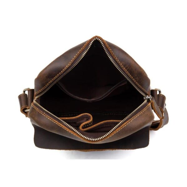 40335 - Мужская плечевая сумка Mantime August из натуральной кожи Crazy Horse