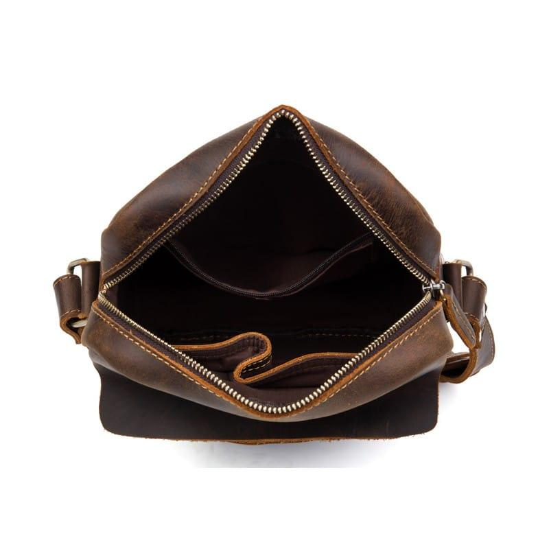 Мужская плечевая сумка Mantime August из натуральной кожи Crazy Horse 215796