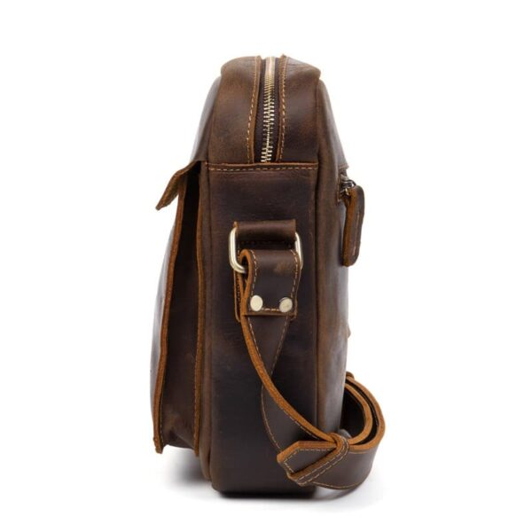 40336 - Мужская плечевая сумка Mantime August из натуральной кожи Crazy Horse