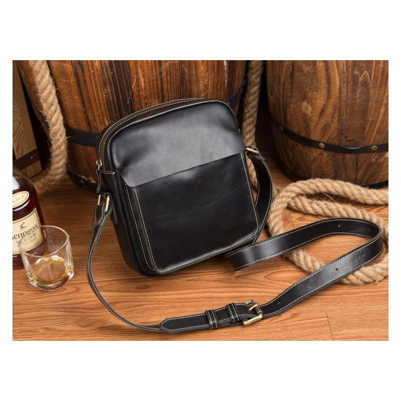 Мужская плечевая сумка Mantime August из натуральной кожи Crazy Horse 215799
