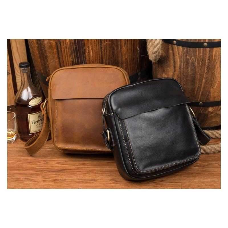 Мужская плечевая сумка Mantime August из натуральной кожи Crazy Horse 215800