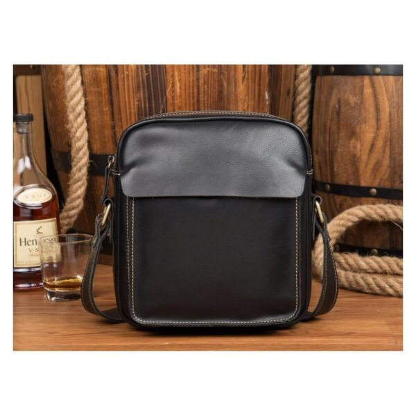 40340 - Мужская плечевая сумка Mantime August из натуральной кожи Crazy Horse