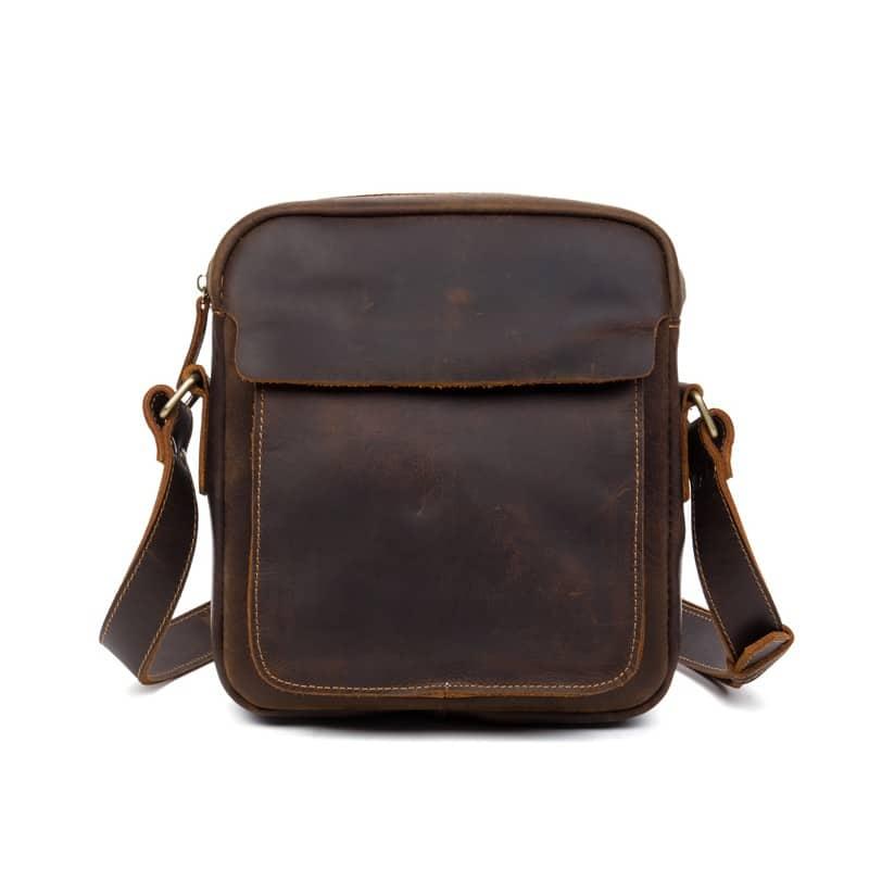 Мужская плечевая сумка Mantime August из натуральной кожи Crazy Horse 215802