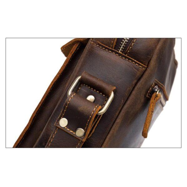40343 - Мужская плечевая сумка Mantime August из натуральной кожи Crazy Horse