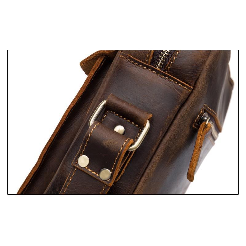 Мужская плечевая сумка Mantime August из натуральной кожи Crazy Horse 215804