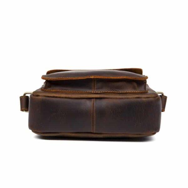 40346 - Мужская плечевая сумка Mantime August из натуральной кожи Crazy Horse