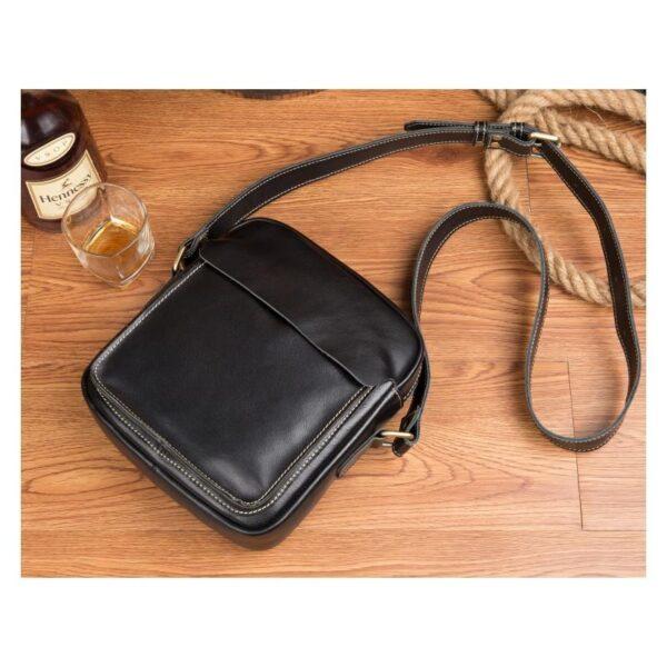 40347 - Мужская плечевая сумка Mantime August из натуральной кожи Crazy Horse