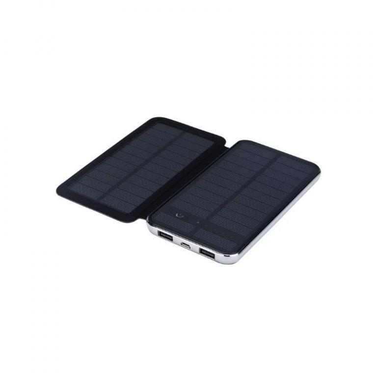 403 - Внешний аккумулятор RIPA C-G736 с солнечной панелью – 5В 3Вт, 10000 мАч, 2x USB