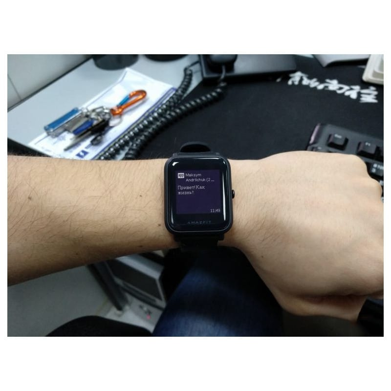 Смарт-часы Xiaomi Huami Amazfit Bip: 1,28″ OLED экран, Bluetooth вызовы, СМС, IP68, шагомер, пульсометр, GPS, заряд на 45 дней 215850
