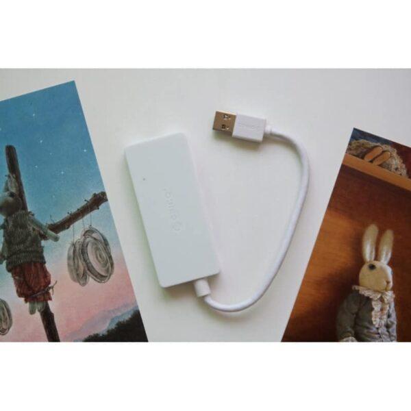 40464 - Активный USB-хаб для зарядки и передачи данных ORICO HS4U-U3: 4 USB 3.0 порта, поддержка внешнего источника питания 5В