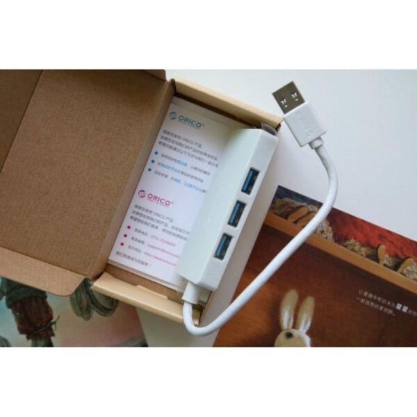40465 - Активный USB-хаб для зарядки и передачи данных ORICO HS4U-U3: 4 USB 3.0 порта, поддержка внешнего источника питания 5В