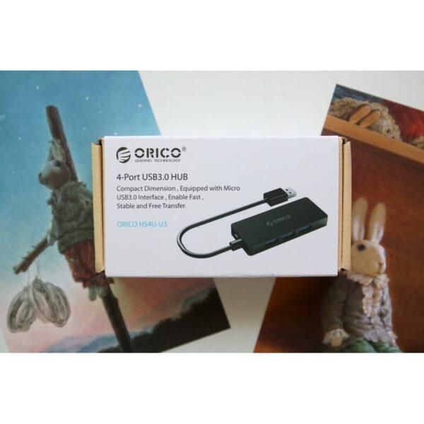 40466 - Активный USB-хаб для зарядки и передачи данных ORICO HS4U-U3: 4 USB 3.0 порта, поддержка внешнего источника питания 5В