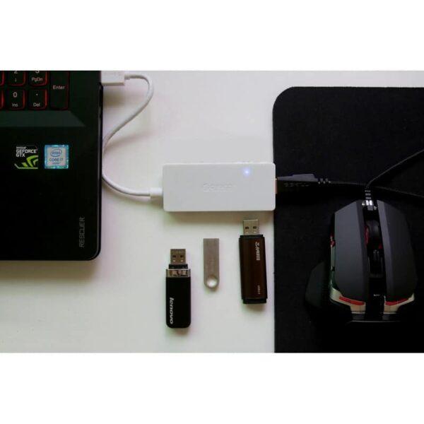 40470 - Активный USB-хаб для зарядки и передачи данных ORICO HS4U-U3: 4 USB 3.0 порта, поддержка внешнего источника питания 5В