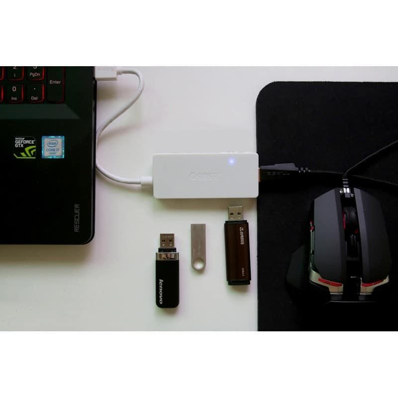 Активный USB-хаб для зарядки и передачи данных ORICO HS4U-U3: 4 USB 3.0 порта, поддержка внешнего источника питания 5В 215919