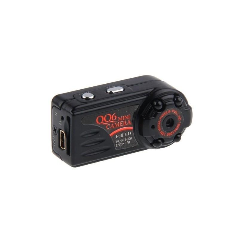 Мини-камера QQ6, Full HD, ночное видение, запись во время зарядки, датчик движения.