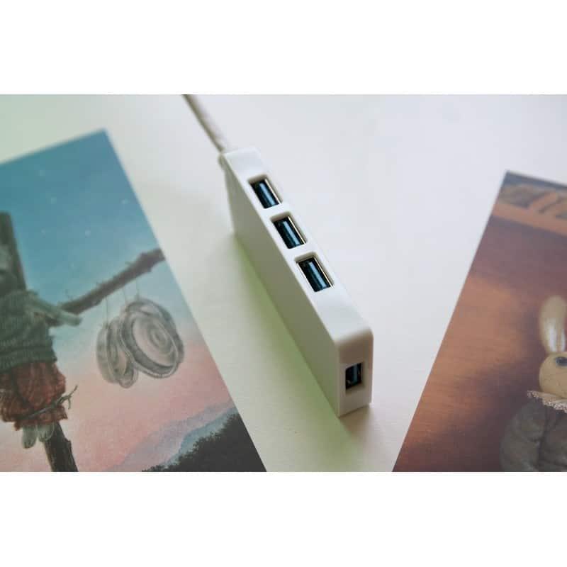 Активный USB-хаб для зарядки и передачи данных ORICO HS4U-U3: 4 USB 3.0 порта, поддержка внешнего источника питания 5В 215924