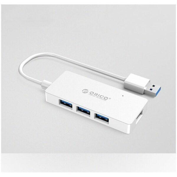 40476 - Активный USB-хаб для зарядки и передачи данных ORICO HS4U-U3: 4 USB 3.0 порта, поддержка внешнего источника питания 5В