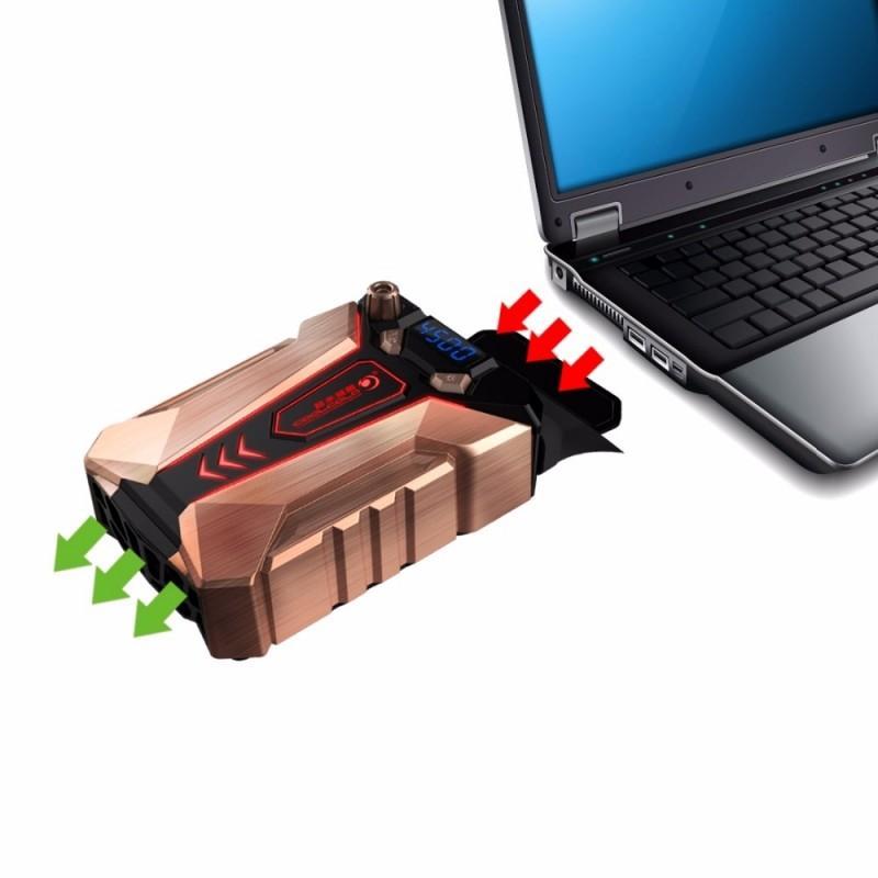 40479 - Мощный внешний вентилятор для ноутбука Ice Troll 7 COOLCOLD с питанием от сети AC220В: выбор скорости, ЖК с подсветкой