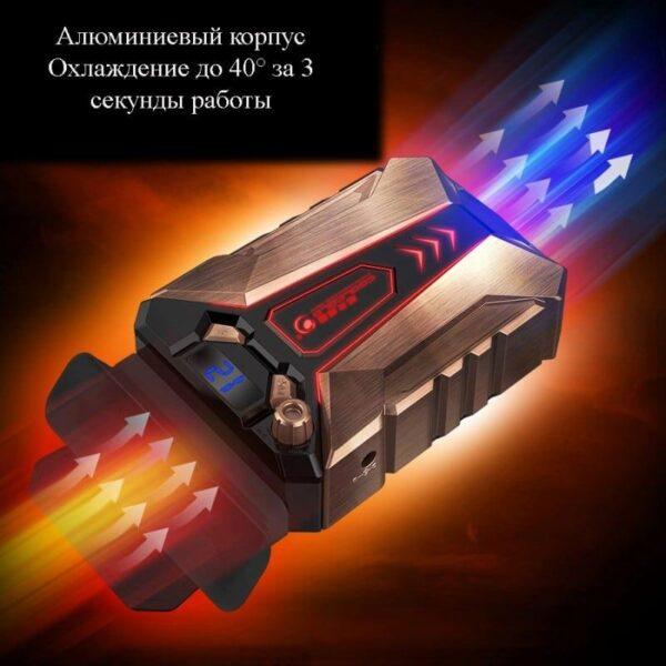 40487 - Мощный внешний вентилятор для ноутбука Ice Troll 7 COOLCOLD с питанием от сети AC220В: выбор скорости, ЖК с подсветкой