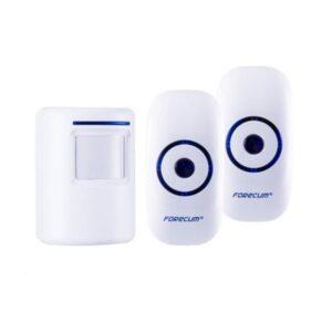 Беспроводной дверной звонок с сигнализацией Forecum8-1f: ИК-датчик 3-5 м, 36 мелодий, 2 AC приемника, до 300 м диапазон