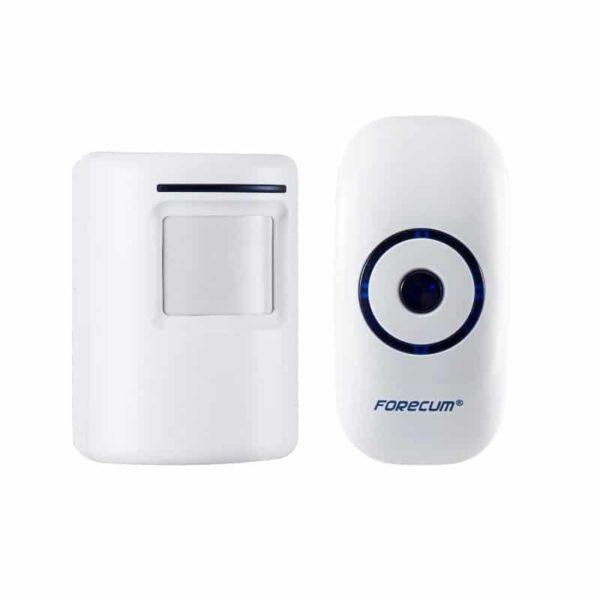 40531 - Беспроводной дверной звонок с сигнализацией Forecum 8-1f: ИК-датчик 3-5 м, 36 мелодий, 2 AC приемника, до 300 м диапазон