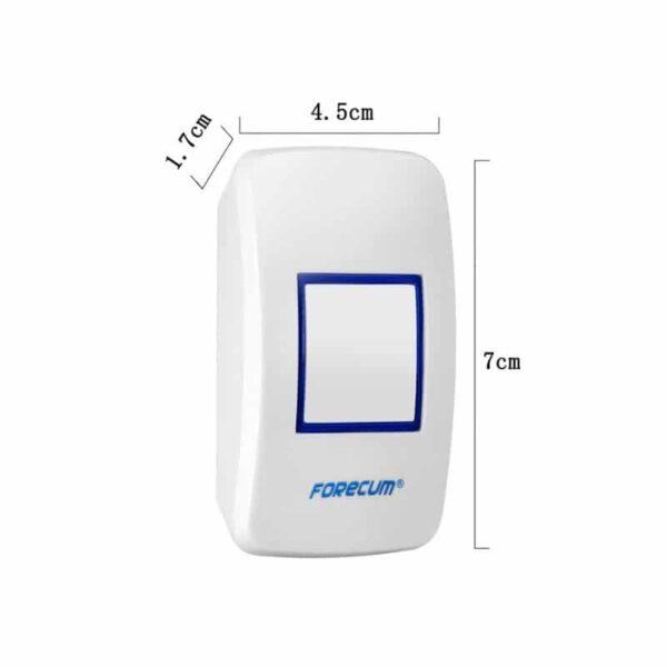 40533 - Беспроводной дверной звонок с сигнализацией Forecum 8-1f: ИК-датчик 3-5 м, 36 мелодий, 2 AC приемника, до 300 м диапазон