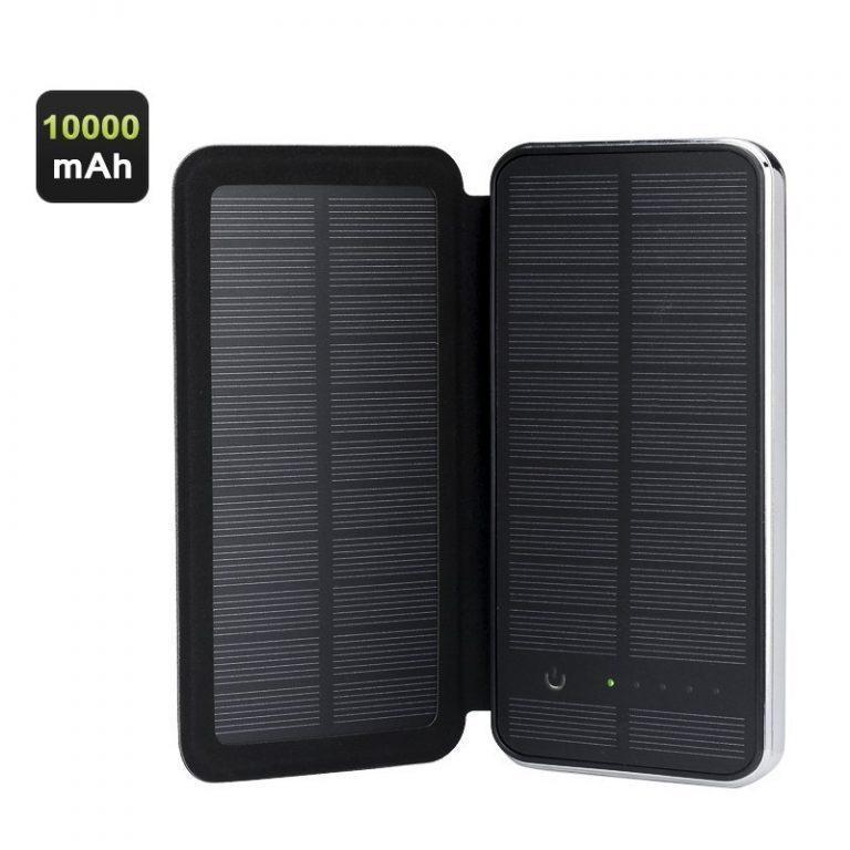 405 - Внешний аккумулятор RIPA C-G736 с солнечной панелью – 5В 3Вт, 10000 мАч, 2x USB
