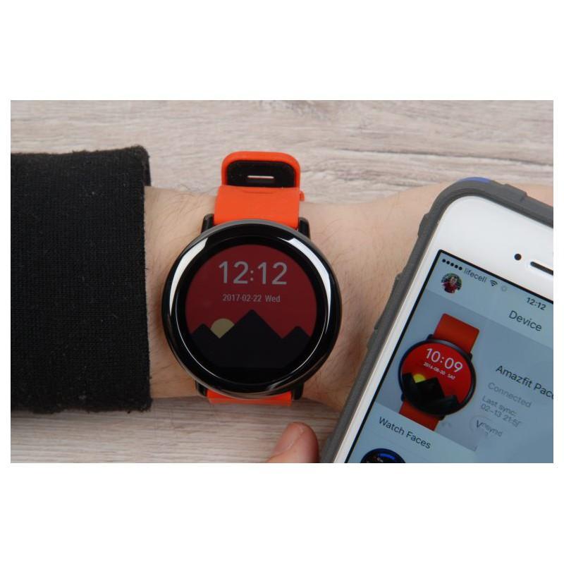 Спортивные смарт-часы Xiaomi HUAMI AMAZFIT Pace: 1,34´´ экран, шагомер, пульсометр, GPS, Bluetooth, IP67, Strava, 4Гб память 216006
