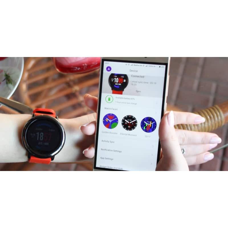 Спортивные смарт-часы Xiaomi HUAMI AMAZFIT Pace: 1,34´´ экран, шагомер, пульсометр, GPS, Bluetooth, IP67, Strava, 4Гб память 216014