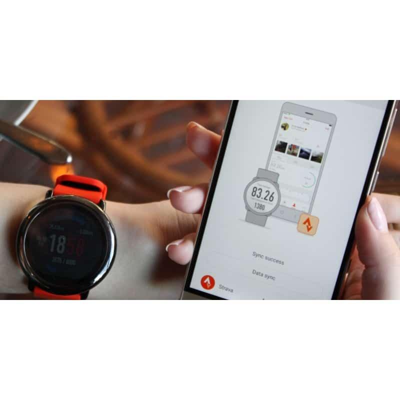 Спортивные смарт-часы Xiaomi HUAMI AMAZFIT Pace: 1,34´´ экран, шагомер, пульсометр, GPS, Bluetooth, IP67, Strava, 4Гб память 216015