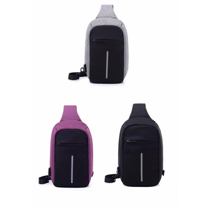 Городской рюкзак-антивор Bobby Mini с защитой от карманников и USB-портом для зарядки: водонепроницаемый, защита от порезов 216017