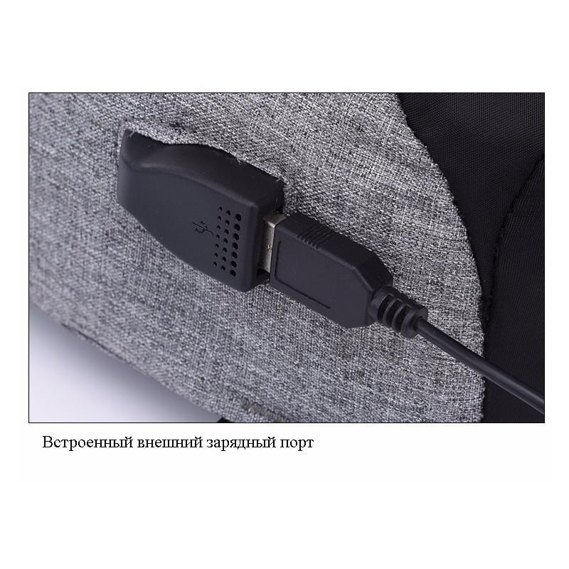 Городской рюкзак-антивор Bobby Mini с защитой от карманников и USB-портом для зарядки: водонепроницаемый, защита от порезов 216018