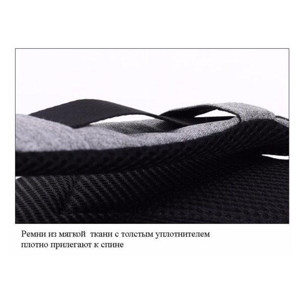 40575 - Городской рюкзак-антивор Bobby Mini с защитой от карманников и USB-портом для зарядки: водонепроницаемый, защита от порезов