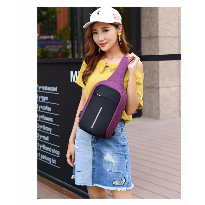 Городской рюкзак-антивор Bobby Mini с защитой от карманников и USB-портом для зарядки: водонепроницаемый, защита от порезов 216021
