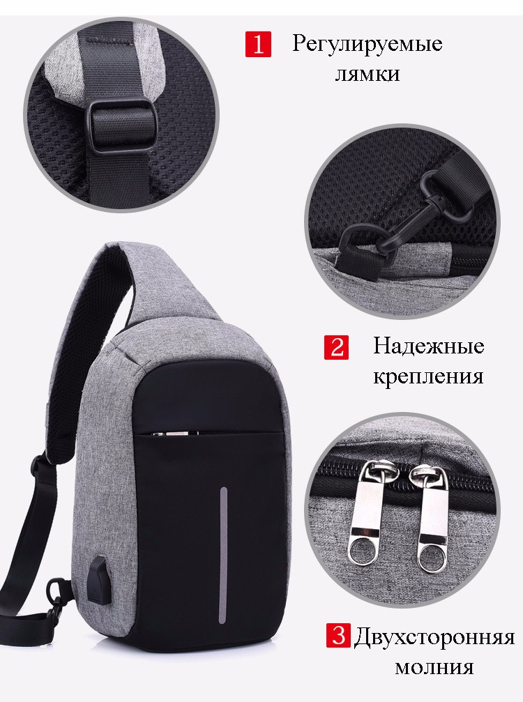 40578 - Міський рюкзак-протикрадій Bobby Mini з захистом від кишенькових злодіїв і USB-портом для заряджання: водонепроникний, захист від порізів