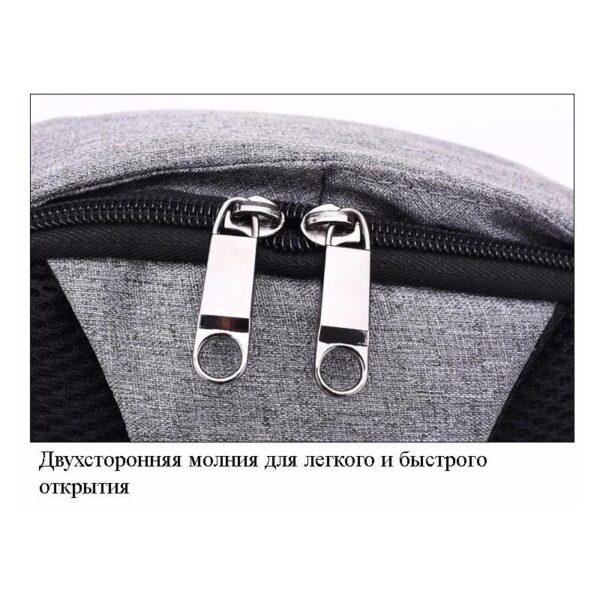 40581 - Городской рюкзак-антивор Bobby Mini с защитой от карманников и USB-портом для зарядки: водонепроницаемый, защита от порезов