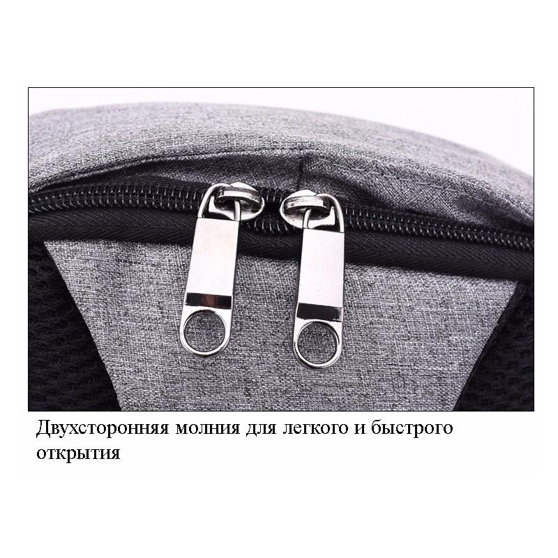 Городской рюкзак-антивор Bobby Mini с защитой от карманников и USB-портом для зарядки: водонепроницаемый, защита от порезов 216025