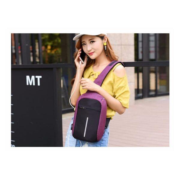 40582 - Городской рюкзак-антивор Bobby Mini с защитой от карманников и USB-портом для зарядки: водонепроницаемый, защита от порезов