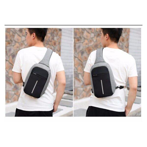 40583 - Городской рюкзак-антивор Bobby Mini с защитой от карманников и USB-портом для зарядки: водонепроницаемый, защита от порезов