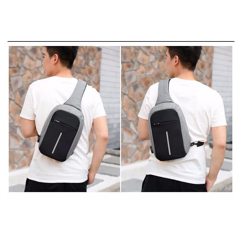 Городской рюкзак-антивор Bobby Mini с защитой от карманников и USB-портом для зарядки: водонепроницаемый, защита от порезов 216027