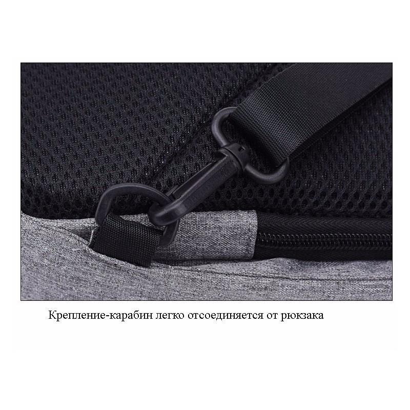 Городской рюкзак-антивор Bobby Mini с защитой от карманников и USB-портом для зарядки: водонепроницаемый, защита от порезов 216029