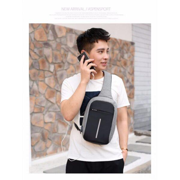 40587 - Городской рюкзак-антивор Bobby Mini с защитой от карманников и USB-портом для зарядки: водонепроницаемый, защита от порезов